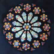 Rose Window, St. Peter's, London, ON - Watercolour - 15x15